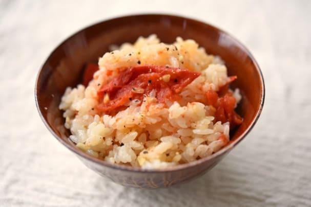 トマトの炊き込み御飯のレシピ